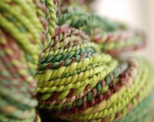 Handspun Corriedale Yarn - Poison Apple - 94 Yards