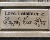Custom for Jazmyn Davis Love, Laughter & Happily Ever After wall plaque