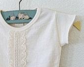 Organic Lace T-shirt (3-6M)