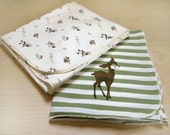 Organic Cotton Baby Receiving Blankets - Set of two
