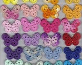 Crochet Butterfly Appliques - Set of 3 - Your Choice of Colors