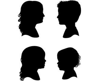 Four Custom Silhouette Prints