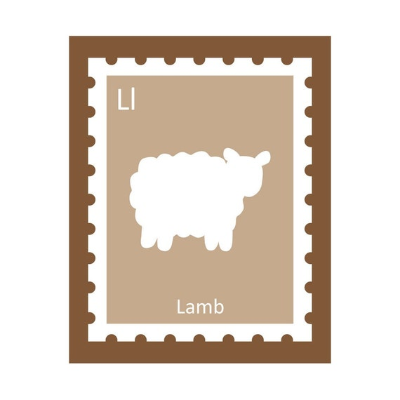 L is for Lamb - Silhouette Alphabet Print