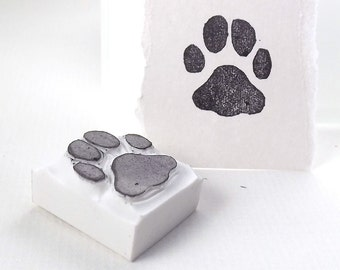 paw print - hand carved stamp
