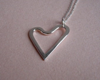 Free Form Silver Heart Pendant