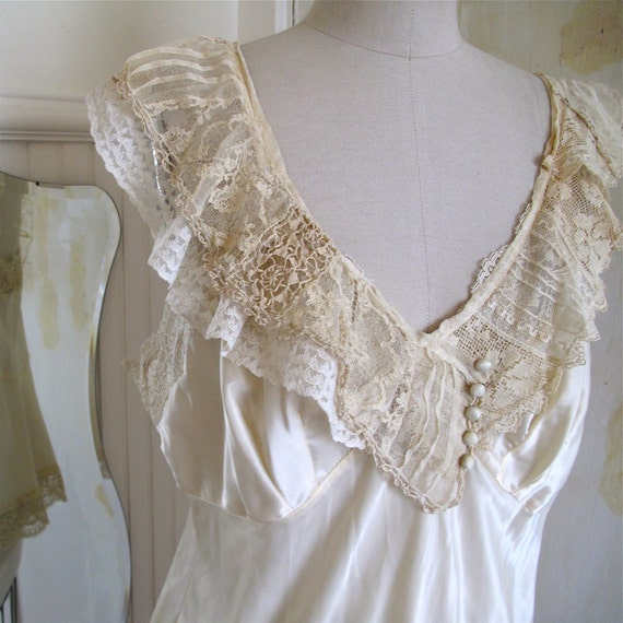Victorian Lace Slip Top - RESERVED for Willow Bloom