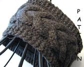 pdf Knitting Pattern - Knit Cabled Headband Earwarmer Lucky Horseshoe