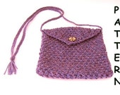 pdf Knitting Pattern - Small Purple Peace Bag