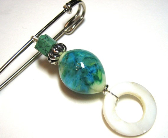 Shawl Pin - Turquoise Delight