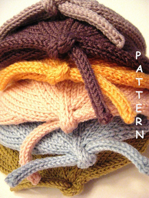 pdf Knitting Pattern - Infant Baby Newborn Knit Hat - Welcome Home Sweet Baby