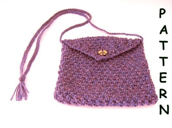 Knitting Pattern Lavender Bag : Items similar to pdf Knitting Pattern - Small Purple Peace Bag on Etsy