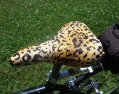Bicycle Saddle Cover - STANDARD size - Animal Print with a hint of Gold Metallic