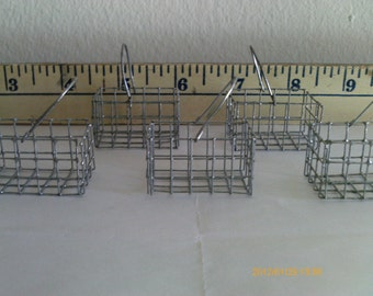 Miniature Wire Baskets - Economy Lot of 5 - VERY SMALL - Handmade