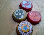 Recycled Beercap Magnets Set of Four