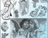 Vintage Angels Photoshop Brushes Brush Set