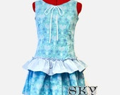 SALE Blue Victorian Hearts Jumper Dress M-L Ready To Ship
