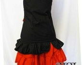 SALE Underbust Skirt with Ruffled Hem Ready To Ship