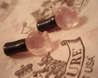 Tiny Pink Nailpolish Stud Earrings