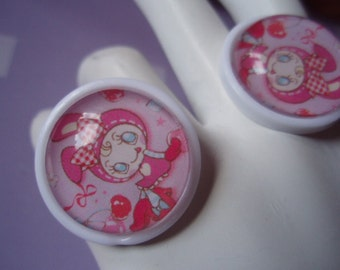 20% OFF Kawaii Bunny Rabbit Character Bubble Stud Earrings