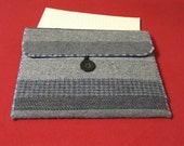 DOCUMENT or LAPTOP SLEEVE/COVER - RE-PURPOSED WOOL Suit Coats and Sport Jackets