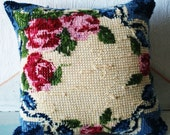 Reserved For Harriett- Embroidered Pillow 'Inside Out'