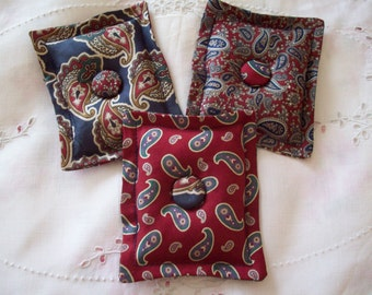 Sachet Set (3) from Vintage Silk Ties