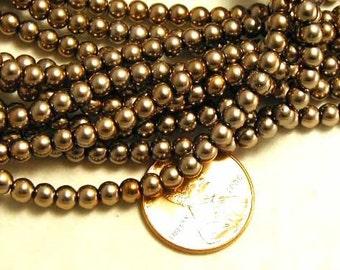 Gold Czech Glass Beads - 50 pcs.