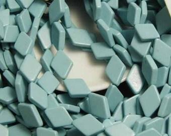 Turquoise Diamonds - 30 Stabilized Turquoise Beads