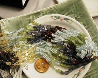 SemiPrecious Citrine Peridot Garnet Iolite Aquamarine - 1 strand