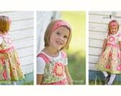 Girls Knot Dress- Newest fabrics from Sandi Henderson - Fall 2011 - Sizes 2-5