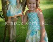 Tropical Punch Halter Dress - Sizes 5-6-7-8