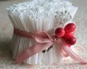 RUFFLE SALE 20% OFF Vintage Crepe Paper Ruffles Winter White - Handmade Wedding Cream Crepe Paper Ruffle Garland  Trim