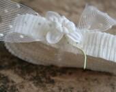 RUFFLE SALE 20% OFF Mini Vintage Crepe Paper Ruffle - Wedding Veil White Petite 3/4 Inch Ruffle Trim - Miniature Dennison Crepe Paper Ruffle