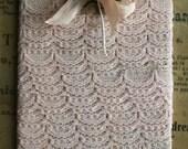 Vintage Scalloped Lingerie Lace Trim - Lace Lingerie Edging - Vintage Trim Card - 2 Yards of Trim - Cameo Pink Color - Doll Clothes Trim