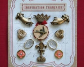 LAST One...French Conservatory bird crown hands embellishment kit