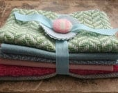 vintage wool fabric bundle--blossom