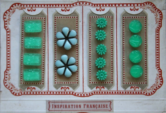 LAST One....French General Turqoise Notions Inspiration Kit