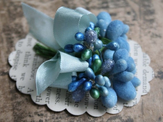 frosted aqua blue stamen collection
