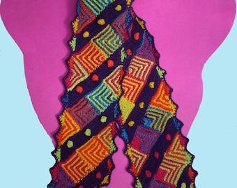 Geomodular Scarf Knitting Pattern via Download
