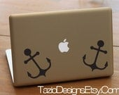 Nautical Anchor (Set of Two) - Apple Macbook, iPad, Car Window, Wall Art, Vinyl Decal, Sticker