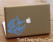 Sparrow - Apple Macbook Decal, Old School Tattoo Flash Art, Car Window Sticker, Wall Art, iPad, iPod