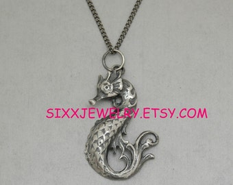 Seahorse Pendant in Sterling Silver  - Free Shipping in the USA