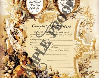 Victorian Wedding Certificate