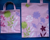 Flowers and Butterflies Mommy and Me TIGHT 'N' TIDY Tote Set