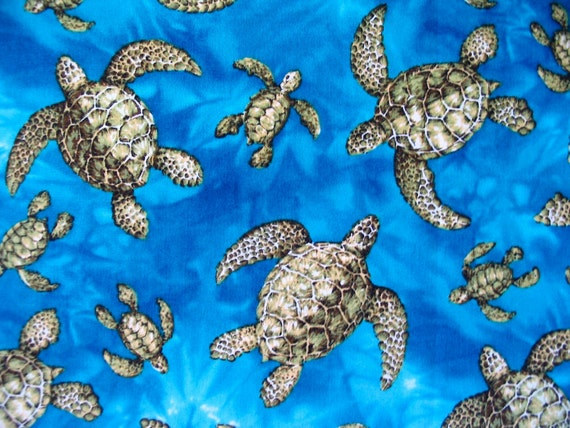 Sea Turtles cotton fabric by Trendtex - 5/8 yard