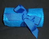 Blue and Black Felt Crayon Rollup Carrying Case