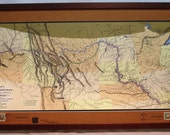 Lewis and Clark States historic map unframed lithograph