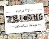 WELCOME Sign, Housewarming Gift for New Home (Black and White or Sepia Photos) 8x10