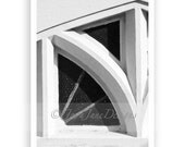 Letter N - Alphabet Photography Individual 4x6 Black and White Photo for Name Frames (N2)