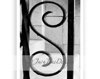 Letter S - Alphabet Photography Individual 4x6 Black and White Photo for Name Frames (S20)